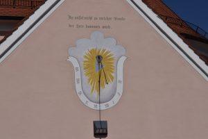 Billafingen, Sonnenuhr, Sakristei, gemalt, Tradition, Alb-HAT,
