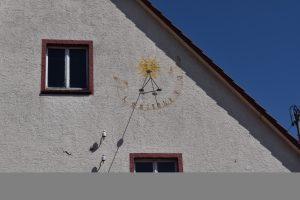 Mühle, Schattenwerfer, Sonnenuhr, Schatten, Bach, Langenenslingen, Alb-Hat, Alte Burg