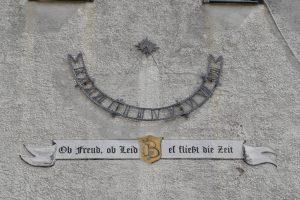 Ittenhausen, Rathaus, Haldenstraße, Sonnenuhr, Alb-HAT, Sonnenzeit, Uhrzeit, Tageszeit, Langenenslingen