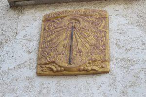 Ittenhausen, Sonnenuhr, Langenenslingen, Alb-HAT, Tradition, Alte Burg, Schattenwerfer,